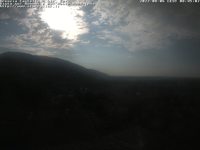 Webcam Brescia - vista sui Ronchi